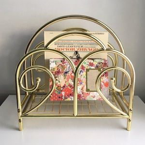 Other - 🆕 Listing!  Vintage | Curved Brass Record Holder